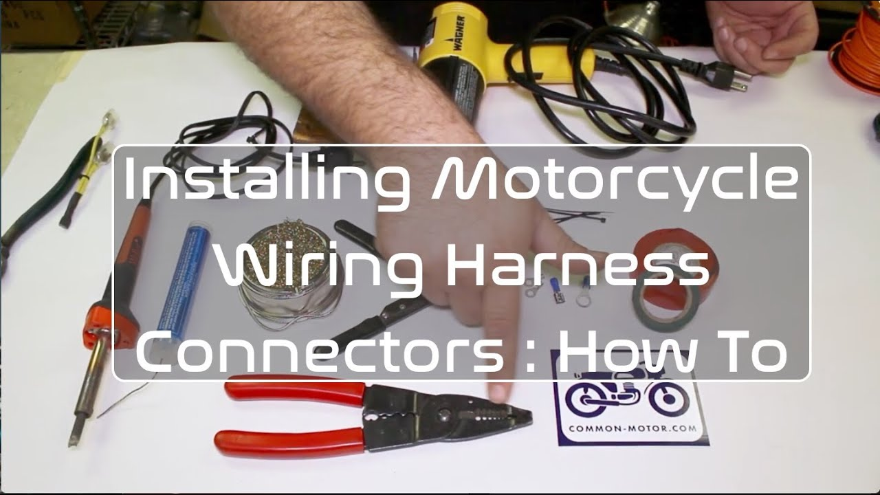 maxresdefault how to install motorcycle wiring harness electrical connectors replacing motorcycle wiring harness at gsmportal.co