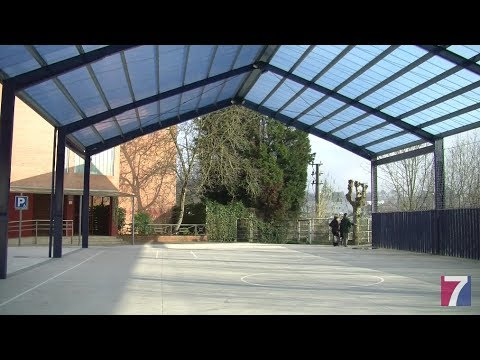 El colegio Ignacio Aldekoa de Astrabudua estrena cubierta en el patio