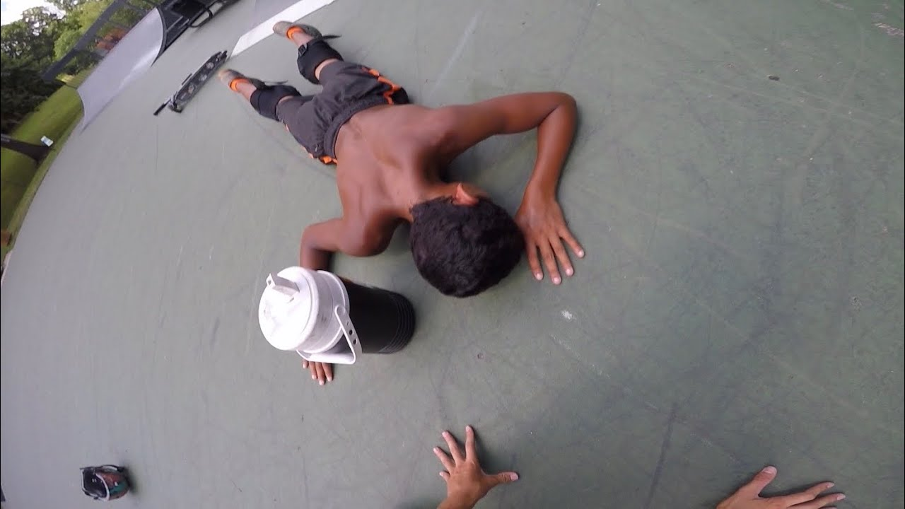 Download KID GETS KNOCKED OUT AT THE SKATEPARK (scary)