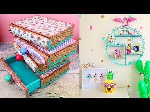 DIY Room Decor! 4 DIY Room Decorating Ideas for Teenagers DIY Phone Holder, Desk decoration, etc)