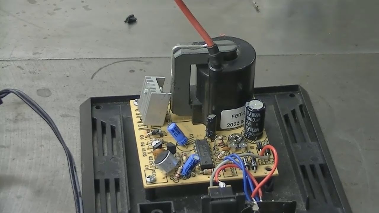 video re  plasma globe flyback transformer output