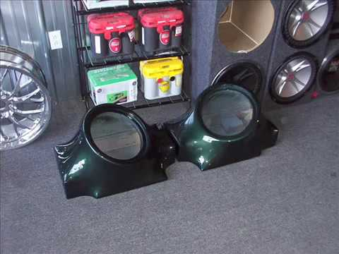 Custom Fiberglass Subwoofer Box And Trunk In A 67 Mustang