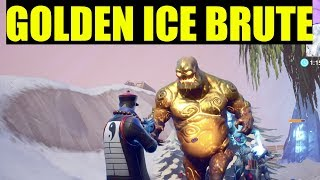 "How to ""Destroy Golden Ice Brutes"" - Fortnite (ICE STORM CHALLENGES) Free rewards Day 3"