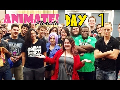 ANIMATE FLORIDA 2016 DAY 1 - Vlog #1