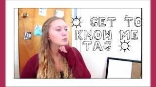 ☼GET TO KNOW ME TAG☼