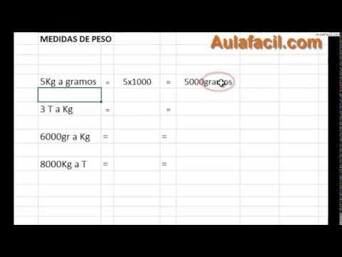 tabla de conversion de peso gramos a kilogramos