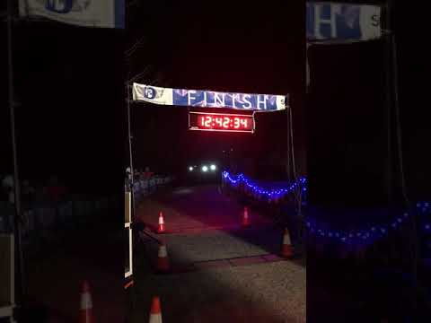Camille Herron- setting the 100 Mile World Record at the 2017 Tunnel Hill 100