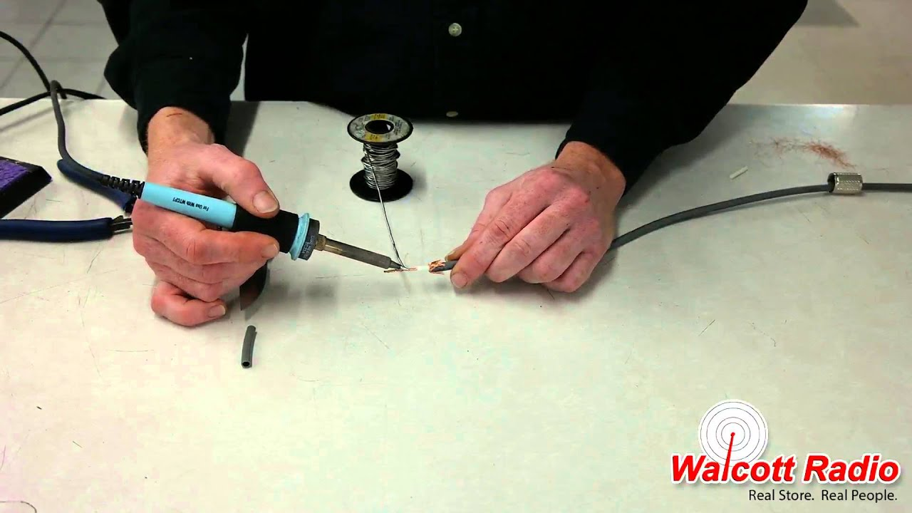 how to install a pl-259 coax connection