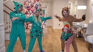 CHRISTMAS ONESIE DANCE BATTLE AGAINST JOJO SIWA AND EVERLEIGH!!!