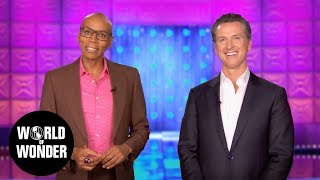 RuPaul Endorses Gavin Newsom for California Governor - Vote on June 5th