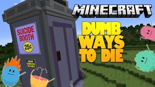 Minecraft | Dumb Ways To Die In Minecraft! | SUICIDE BOOTH (Minecraft Redstone)