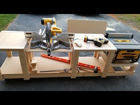 Mobile Workbench for Miter Saw and Table Saw