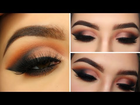 MAUVE BROWN CUT CREASE WITH BLACK SMOKEY EYELINER // COLOURED RAINE QUEEN OF HEARTS PALETTE