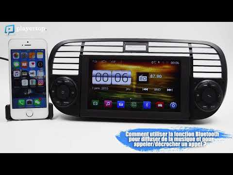 GPS Fiat 500 Autoradio- Android Et Bluetooth Auto Chez Player Top