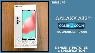 SAMSUNG GALAXY A32 5G - CAD BASED RENDERS AND SPECIFICATION