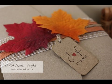 handmade autumnfall themed wedding invitation - Fall Themed Wedding Invitations