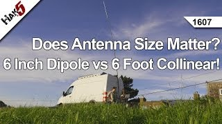 Does Antenna Size Matter? 6 inch Dipole vs 6 Foot Collinear!, Hak5 1607