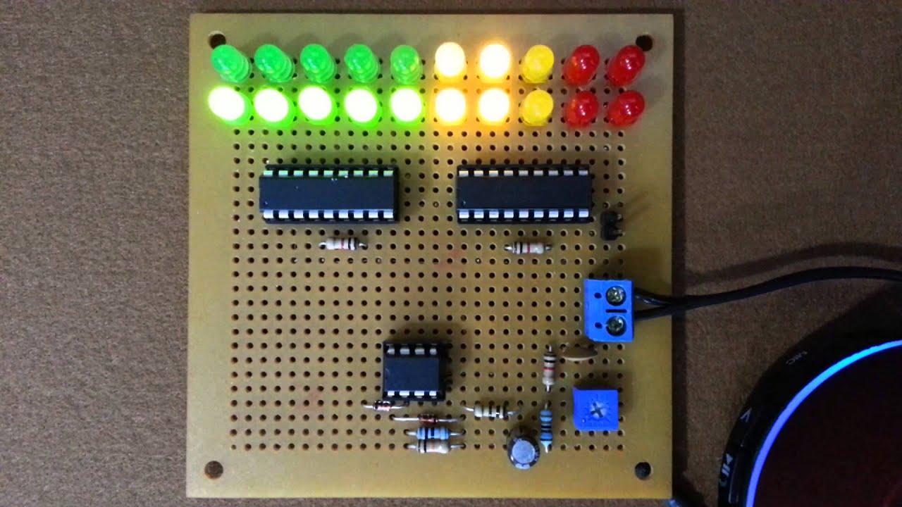 LM3915 VU Meter  Dot and Bar mode  YouTube