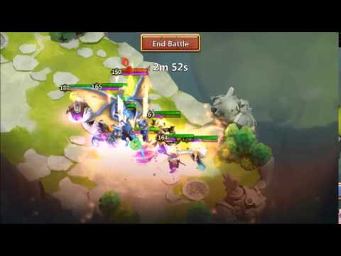 Castle Clash : Frost Witch Vs LR Boss