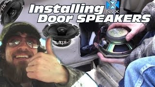 Installing Door Speakers In 04 Chevy Impala | How To Install 2-Way NVX VSP65 Coaxial Car Speaker Set