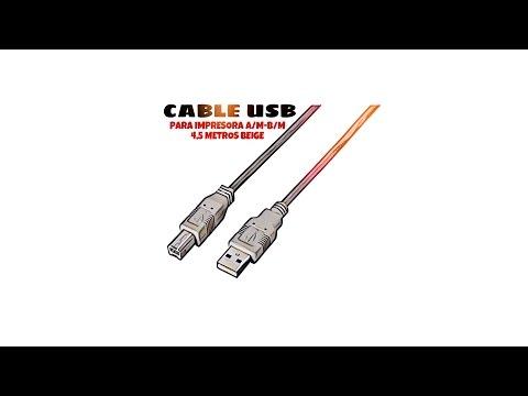 Video de Cable USB 2.0 para impresora A/M-B/M 4.5 M Beige