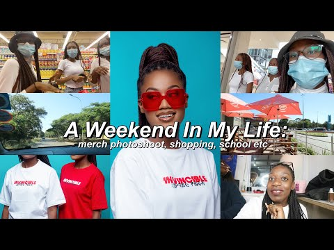 A WEEKEND IN MY LIFE:  new merch photoshoot, shopping, school +more! || Lombe Posa