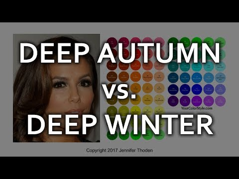 Deep Autumn vs Deep Winter  Seasonal Color Analysis