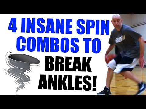 4 INSANE Spin Move Combos To BREAK ANKLES! How To: Basketball Moves