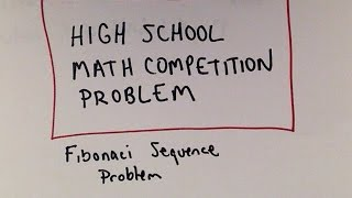 Can you Solve it? High School Math Competition Problem