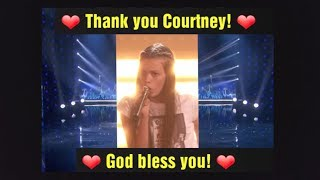 Courtney's Last AGT minutes!