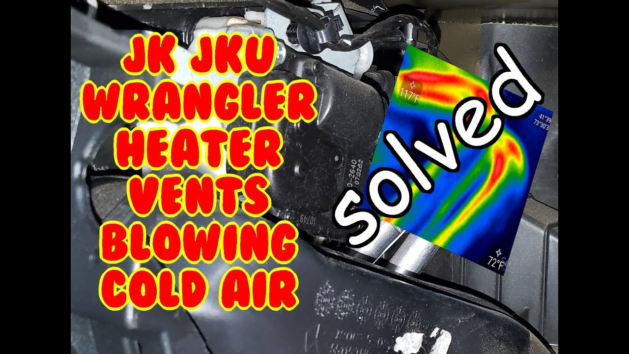 small resolution of jk wrangler no or low heat fix blowing cold air left vent heater core