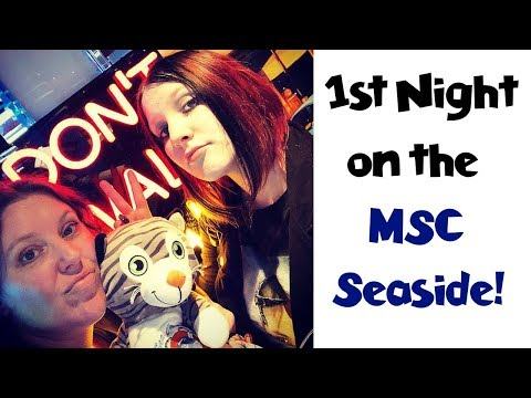 First Night Dinner & Shocking Entertainment Finds! MSC Seaside Group Cruise Vlog [ep3]