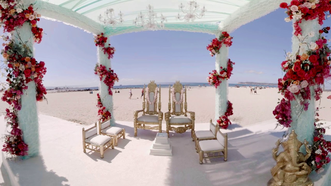 Indian Wedding At Hotel Del Coronado 4k 360 Video