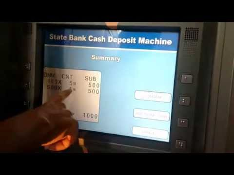 How to Deposit $Money without ATM/Debit Card in SBI Cash Deposit Machine - Cardless Deposit
