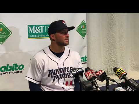 the best attitude 6e116 0912a Tim Tebow on playing minor league baseball