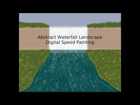 Abstract Waterfall Landscape Digital Speed Painting thumbnail