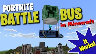 Working Fortnite Battle Bus in Minecraft (Bedrock edition)