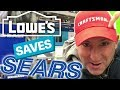 IS SEARS CLOSING?  Lowes Sells Craftsman tools...