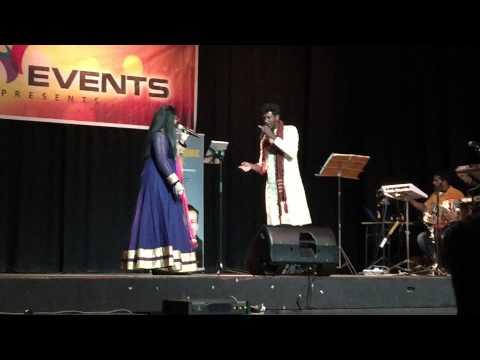 Abhijith Vijayan & Merina Sumesh singing Premodharanay in Sydney, Australia