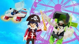 Видео про игрушки для детей. Супер 4 и сражение в парке развлечений!