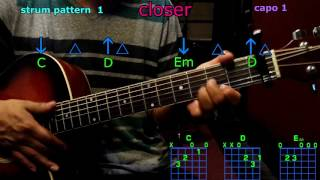 closer chainsmokers guitar chords