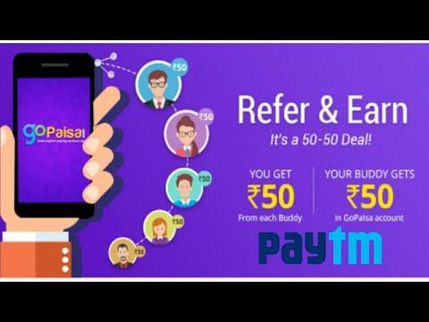 Gopaisa App Singup.50 and Refer&Earn.50/-(Redeem paytm/bank/mobikwike)