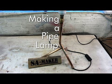 How to make a Pipe Lamp by soldering copper pipes
