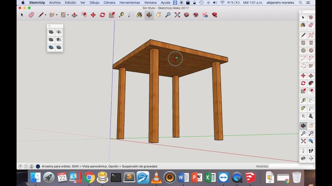 Sketchup para carpinteros tutorial basico doovi for Programa para disenar muebles gratis espanol