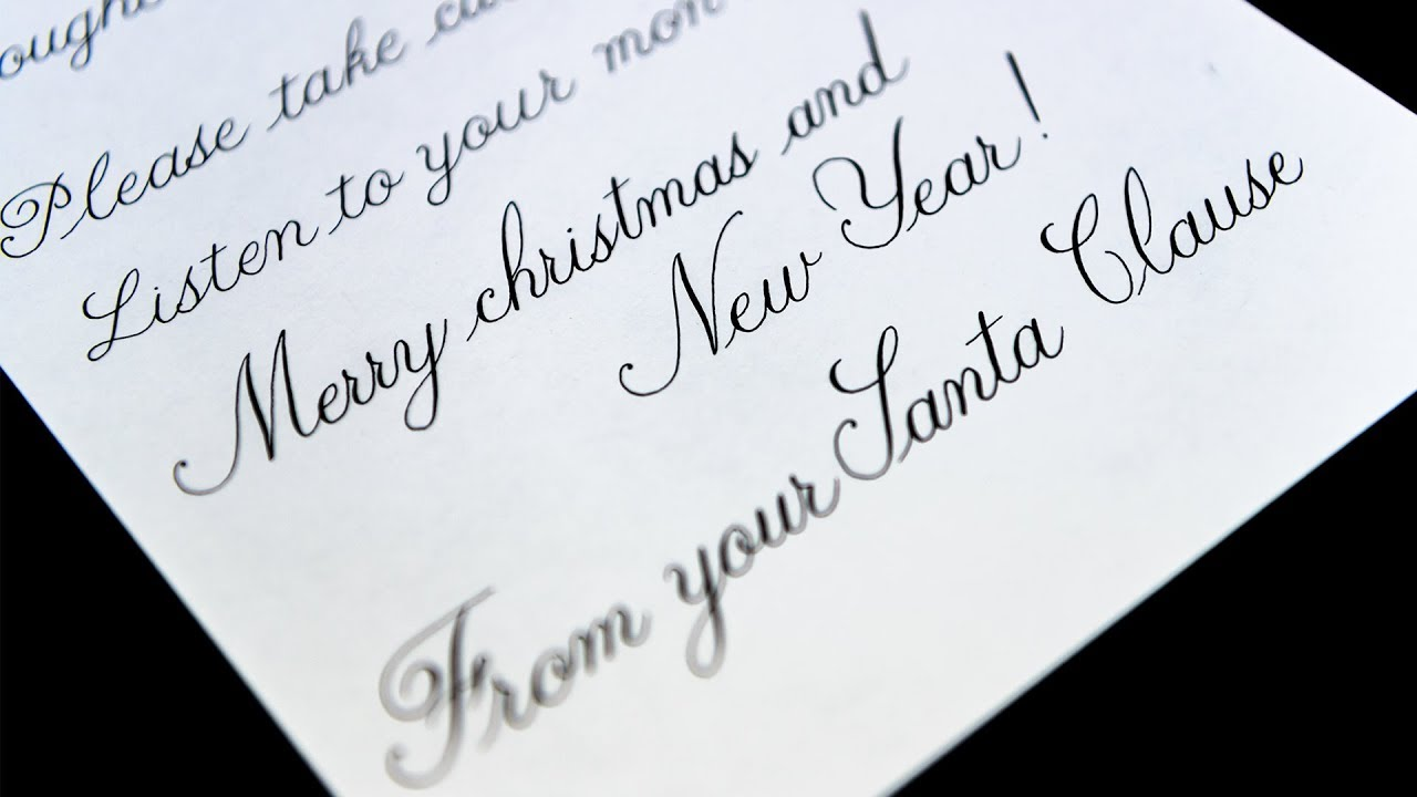 Letter From Santa Claus  Youtube