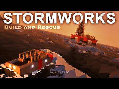 Offshore Oil Rig and Bad Weather | Stormworks Gameplay Ep7