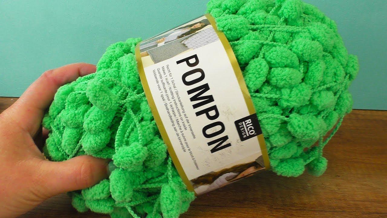 Häkel Experiment Pompon Wolle Im Test Schal Aus Einem Knäul