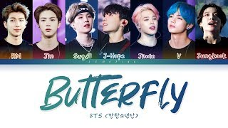 Gambar cover BTS - Butterfly (방탄소년단 - Butterfly) [Color Coded Lyrics/Han/Rom/Eng/가사]