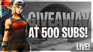 FORTNITE Road To 300 SUBS #VEILZ #GIVEAWAYAT500SUBS