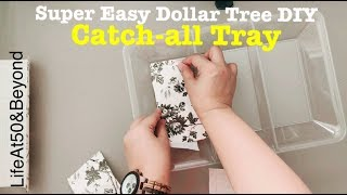 SUPER EASY DIY DOLLAR TREE CATCH-ALL TRAY FOR CAR KEYS JEWELRY WALLET || JORD WATCH REVIEW & GIVEAWA